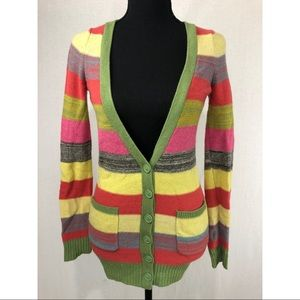 COINCIDENCE & CHANCE Striped Wool Blend Cardigan